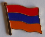 Armenia Country Flag Enamel Pin Badge